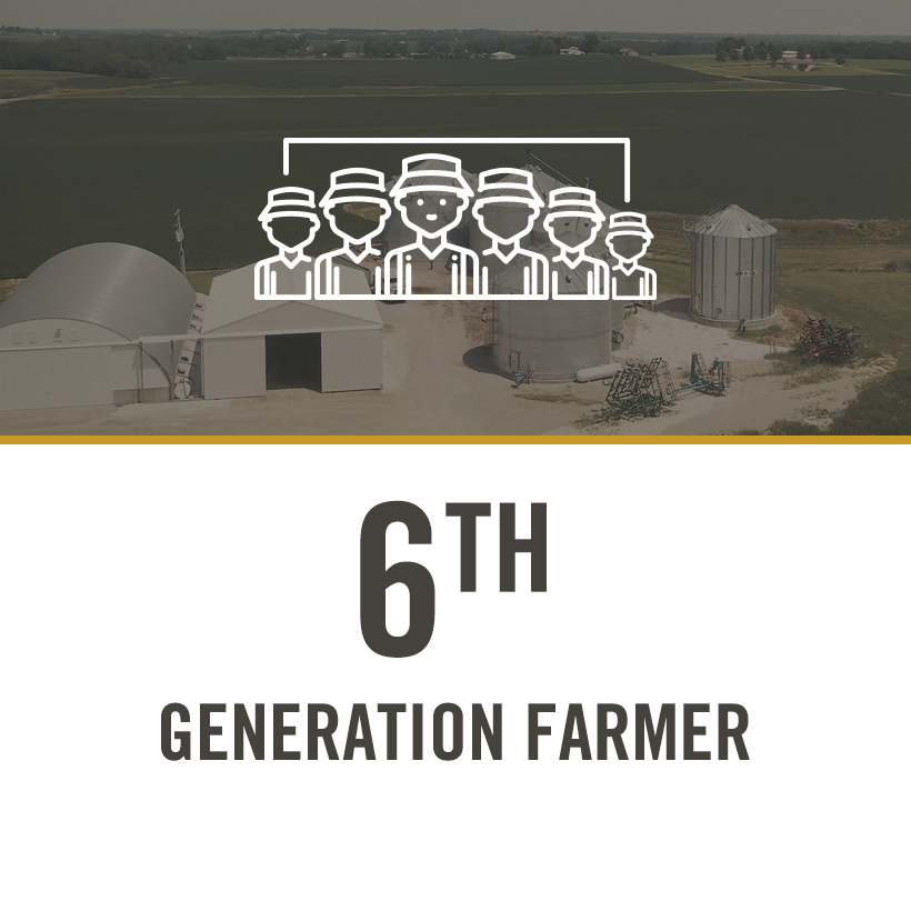 DEKALB® Asgrow® Deltapine® farmer Mitch Fessler's farm and silos