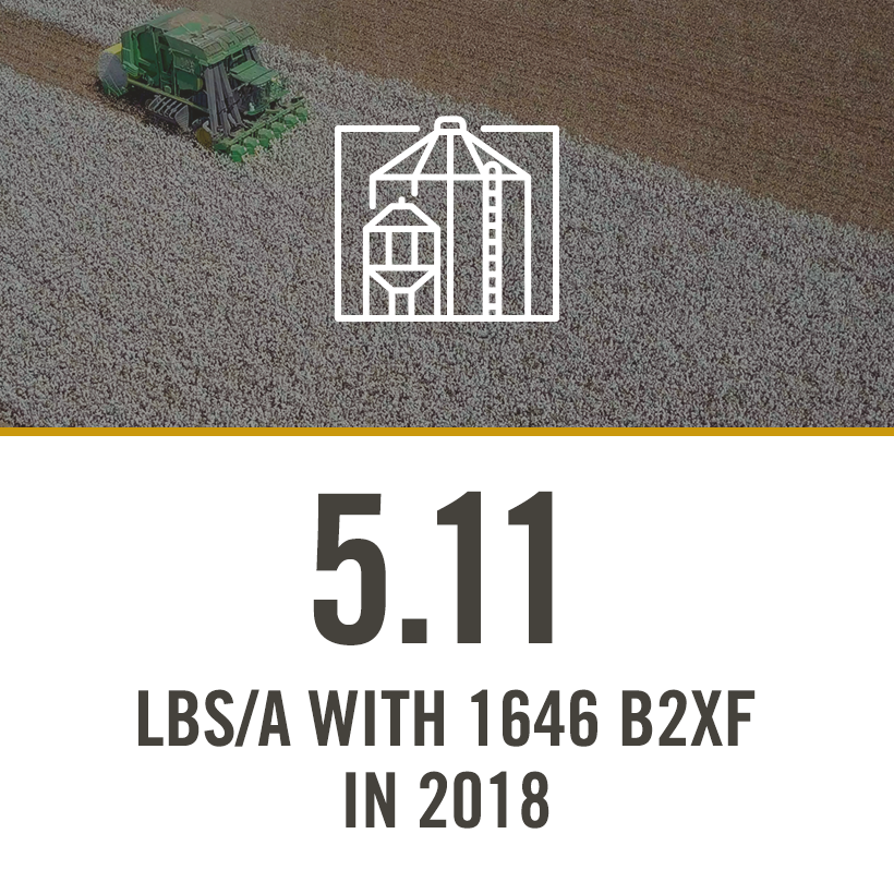 5.11 bu/a with 1646 b2xf in 2018